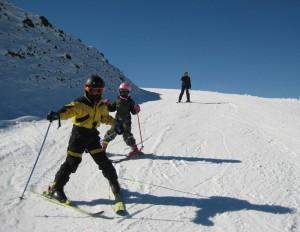 Skiing at Hautacam