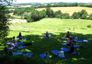 Alfresco Yoga at Maison Olleris