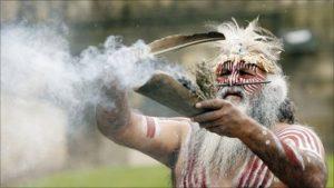 Aboriginal smoking ceremony