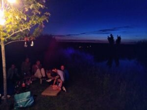 Salvador's school leavers party at the pond